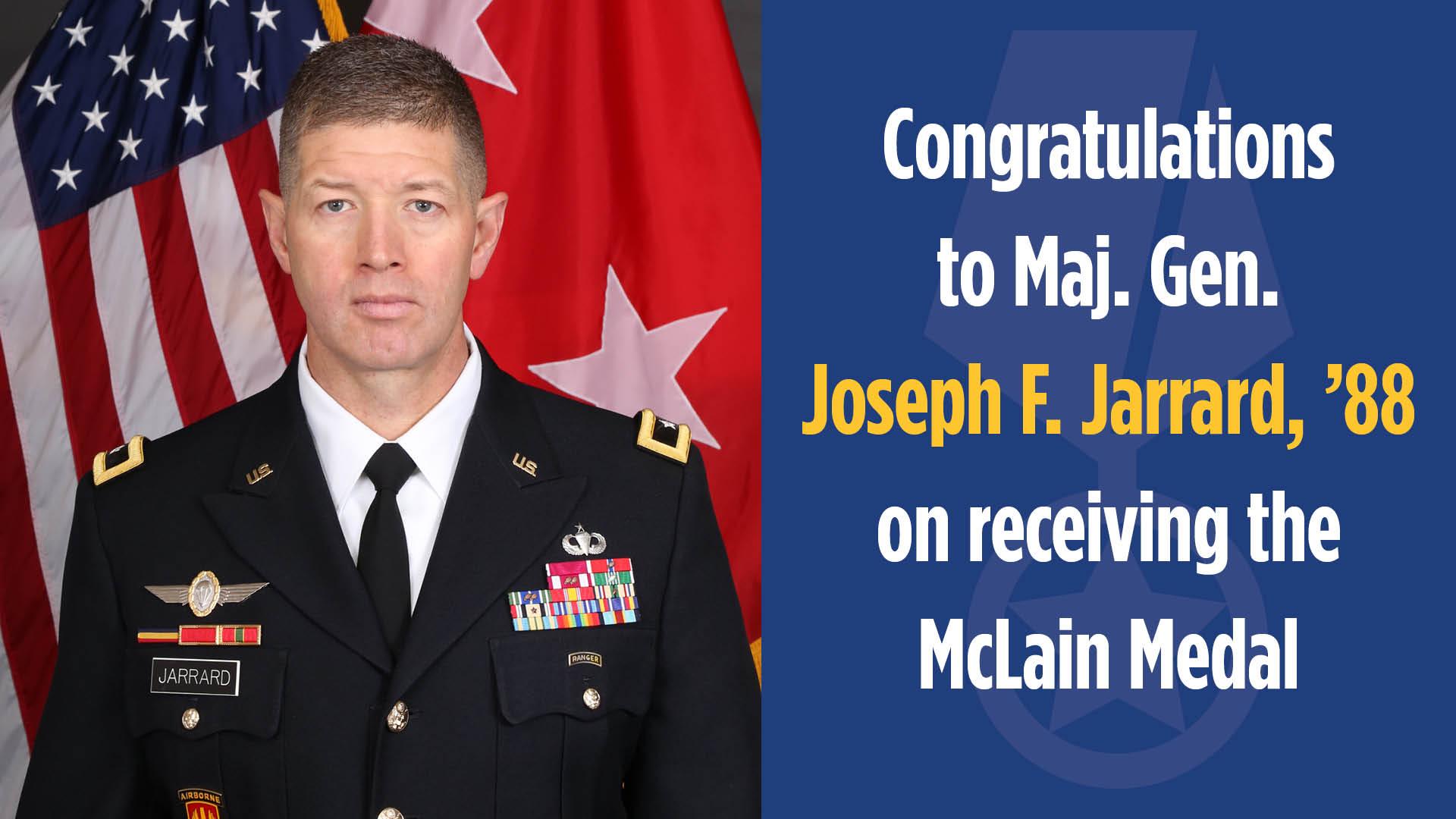 Gen. Joe Jarrard earns McLain Medal