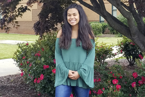 High school senior Samantha Spinaci is one of 14 dual enrollment students at UNG who will earn an associate degree and a high school diploma in May.