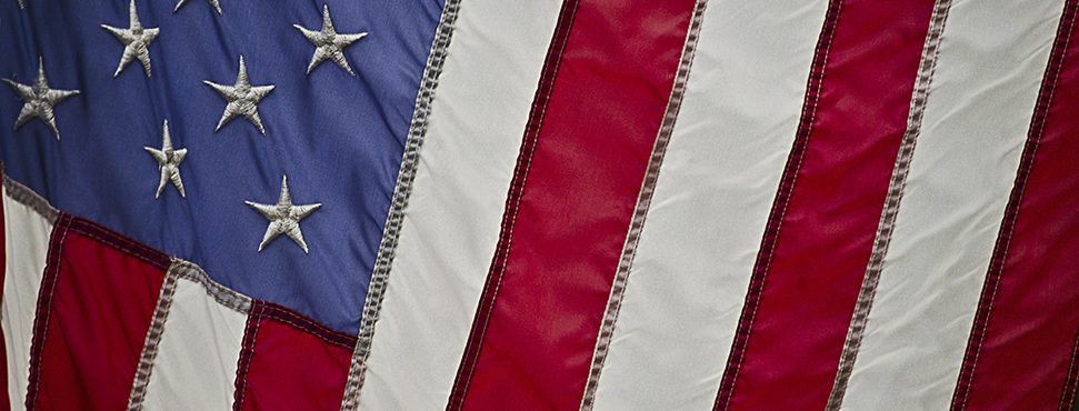 Section of U.S. Flag